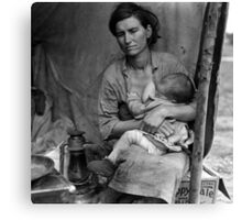 Vintage Photograph of Migrant Mother Canvas Print