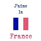I Love France Vintage Style by wlartdesigns