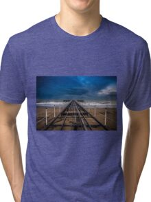 A dock structure Tri-blend T-Shirt