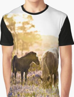 Horse and foal in the New Forest Graphic T-Shirt