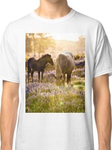 Horse and foal in the New Forest Classic T-Shirt