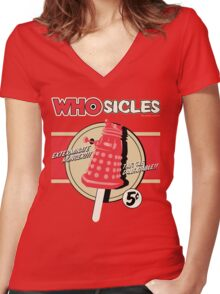 WHOSICLES Women's Fitted V-Neck T-Shirt