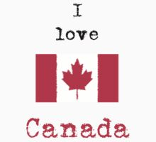 I Love Canada Vintage Style Kids Clothes