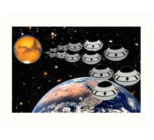 NAZA Reports a Fleet of UFOs has been Spotted Art Print