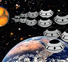 NAZA Reports a Fleet of UFOs has been Spotted by Dennis Melling