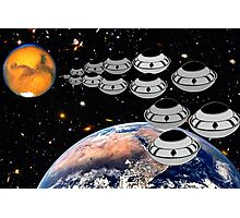 NAZA Reports a Fleet of UFOs has been Spotted Photographic Print