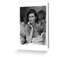 Vintage Photograph of Migrant Mother Greeting Card