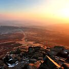 Warm Sunlight Over Frozen Land by Mat Robinson
