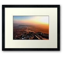 Warm Sunlight Over Frozen Land Framed Print