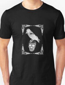 Raven Skull White T-Shirt