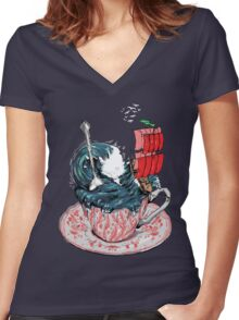 Storm in a teacup Women's Fitted V-Neck T-Shirt