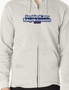 Furnished Caves & Reptile Arsonists Zipped Hoodie