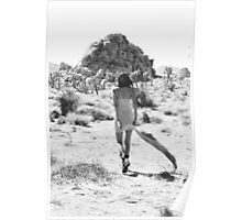 Girl In The Desert with Scarf Poster