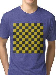 Gold and Black Checkered Tri-blend T-Shirt