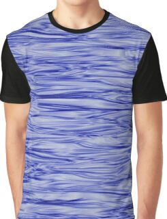 Fractal Noise Blue Swirl Graphic T-Shirt