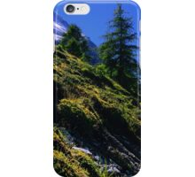 Down Hill in Swiss Alps iPhone Case/Skin