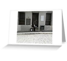 Street Music in San Juan Greeting Card