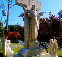 Presley family memorial statue, Graceland by ADayToRemember