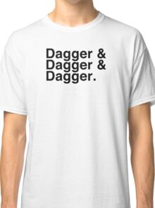 Helvetica List - Dagger Dagger Dagger - Critical Role Classic T-Shirt