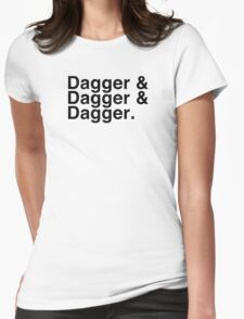 Helvetica List - Dagger Dagger Dagger - Critical Role Womens Fitted T-Shirt