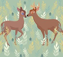 Bambi and Faline by Rachel Sample