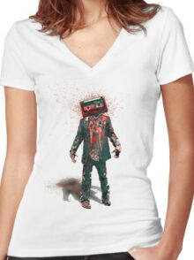 The Walking Tapes 2 Women's Fitted V-Neck T-Shirt