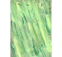 GREEN AND YELLOW STREAKING Photographic Print