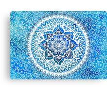 Watercolour Yin Yang Mandala Canvas Print