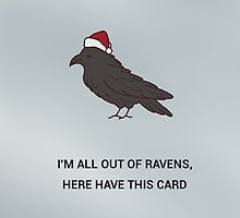 spare a raven, send a card - christmas edition by julierab