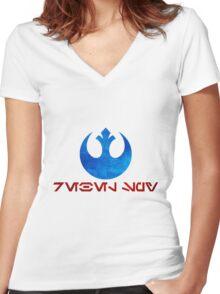 Rebel Alliance: Rebel Spy Women's Fitted V-Neck T-Shirt