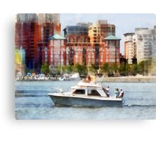 Maryland - Cabin Cruiser by Baltimore Skyline Canvas Print