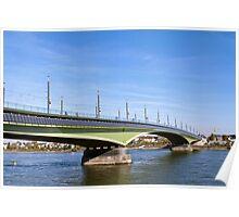 Kennedy Bridge in Bonn, Germany Poster