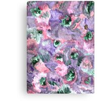 COLORFUL ABSTRACT WITH GREEN DOTS Canvas Print
