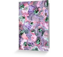 COLORFUL ABSTRACT WITH GREEN DOTS Greeting Card