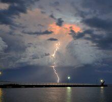 Lightning over Lake Alexandrena, Milang, SA by Matt Harvey