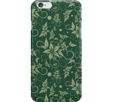 Poinsettia on Green Background iPhone Case/Skin