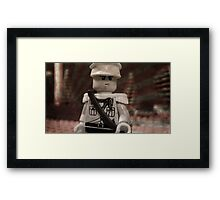 Lego Japanese Soldier Framed Print