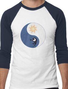 Celestia and Luna Yin Yang Men's Baseball ¾ T-Shirt