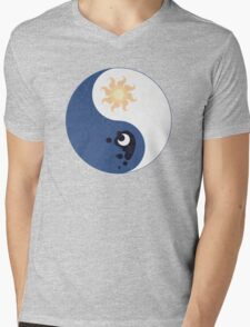 Celestia and Luna Yin Yang Mens V-Neck T-Shirt