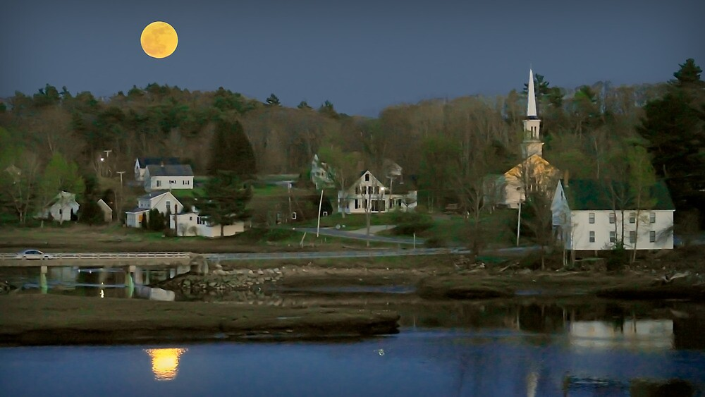 Moonrise on  the Sheepscote by Dave  Higgins