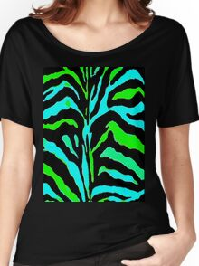 """Digital Zebra Green"" Women's Relaxed Fit T-Shirt"