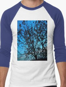 """Trees with Blue Sky"" Men's Baseball ¾ T-Shirt"