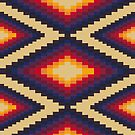 Navajo/Aboriginal Pattern iDevice Case by paperboyjim