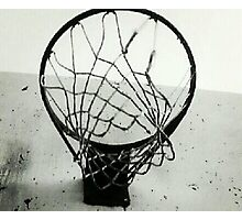 Basketball Net Photographic Print