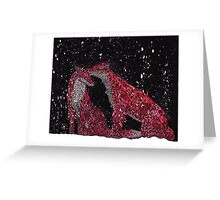 Pattern Foxes in the Snow Greeting Card