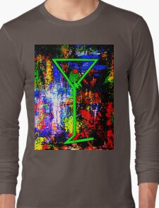 """""""Perfect Martini with Olive"""" Long Sleeve T-Shirt"""