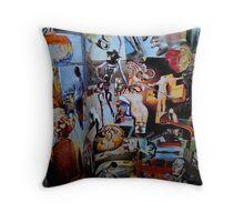 Dali Collage. Throw Pillow
