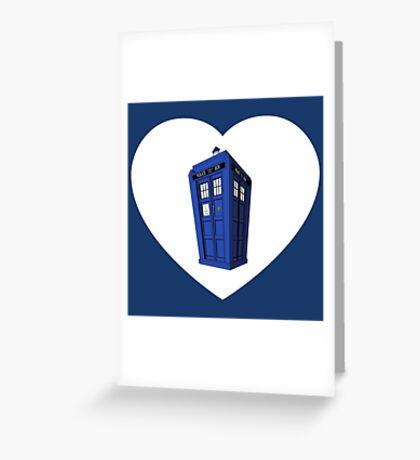 Tardis Heart Greeting Card