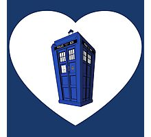 Tardis Heart Photographic Print