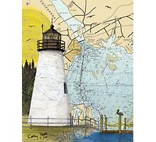 Concord Point Lighthouse MD Nautical Chart Peek Photographic Print